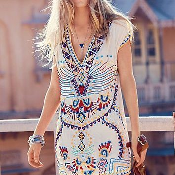 Antik Batik Womens Echoing Ella Beaded Dress