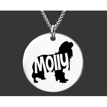 Cavalier King Charles Spaniel Necklace | Personalized Dog Necklace