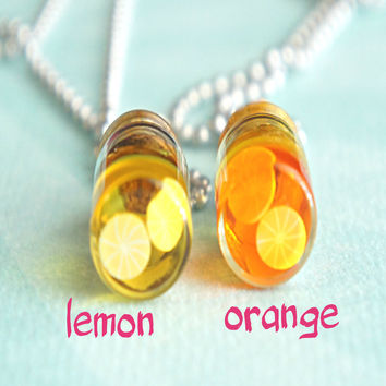 fruit juice necklace