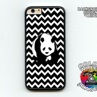 Phone case, Panda, Bear, black and white chevron, patterned, iphone 6, 6 plus, Galaxy, Galaxy Note Colorwheel Cases