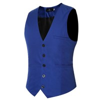 Solid Color Dress Suit Vests