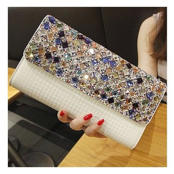 Bags Stylish Chain Diamonds Shoulder Bags [6582925511]
