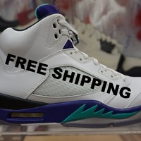 "Air Jordan Retro 5 ""Grape"" Basketball Sneaker  AJ5"