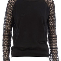 Black pointelle sleeve jumper - Knitwear & Cardigans - New In Clothing - What's New - Dorothy Perkins