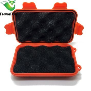 Portable Waterproof Shockproof Outdoor Airtight Storage Case Survival Tool Container Anti Pressure Carry Box Small / Large Size