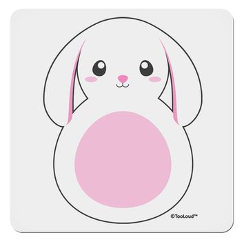 "TooLoud Cute Bunny with Floppy Ears - Pink 4x4"" Square Sticker"