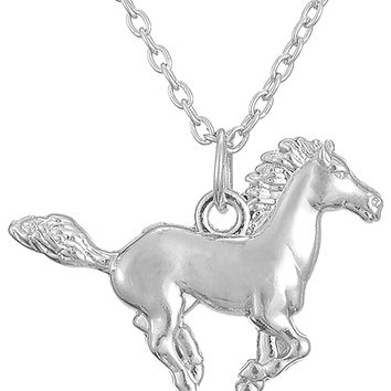 Little Pony Pendant Running Horse Necklace For Teen Girls Equestrian Birthday Gift Jewelry