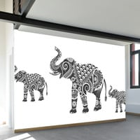 Ornamental Elephant Wall Mural