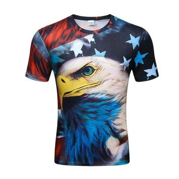 Colorful 3D Printed High Quality Tees #america