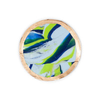 Beautiful Sea Breeze Marble Coasters (set of 4)