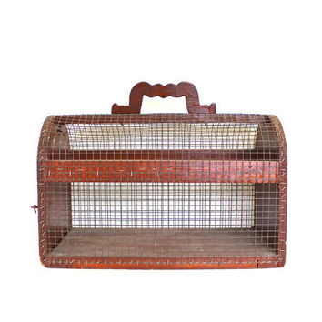 Truly Rustic Antique Handmade Animal Cage by becaruns on Etsy