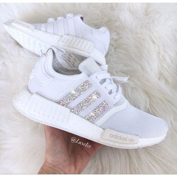 Beauty Ticks Adidas Nmd Individuality Sequins Fashion Women Leisure Running Sports Shoes