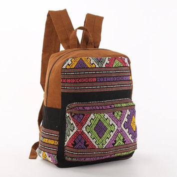Ethno Backpack, Utility Backpack, Work bag, Children Backpack, Stylish Backpack, Vegan Bag, Ethic Hand Woven Textiles