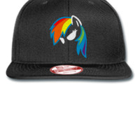 RAINBOW DASH my little pony Embroidery - New Era Flat Bill Snapback Cap