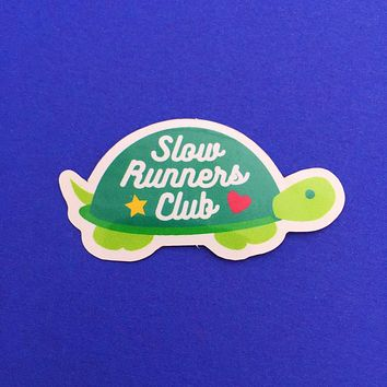 Slow Runners Club Turtle Vinyl Sticker