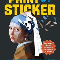 Paint by Sticker: Masterpieces Book