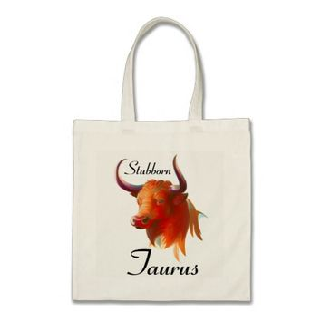 Zodiac Taurus Sign Budget Tote Bag