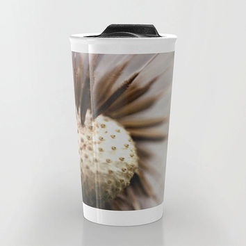 Dandelion Travel Mug - Nature Photo Travel Mug - Coffee Travel Mug - Hot or Cold Travel Mug - 12oz Travel Mug - Made to Order