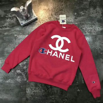 CHANEL&Champion sets the head sweater couple hooded sweater-2
