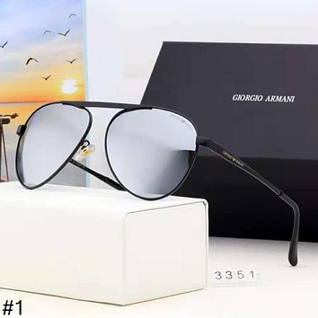 Giorgio Armani high-end street fashion men and women thin frame color film polarized sunglasses #1