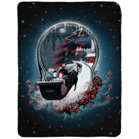 Grateful Dead Winter Sleigh Stealie Sherpa Fleece Blanket
