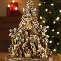 Metallic Nativity Figurine