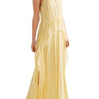 Catriona ruffled silk-crepon gown | ELIZABETH AND JAMES | Sale up to 70% off | THE OUTNET