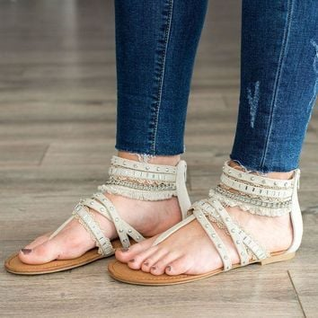 MDIG8 Not Rated Xara Sandal- Cream