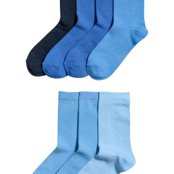 7-pack Socks - Blue - Kids | H&M US