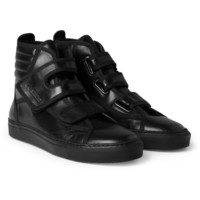 Raf Simons Leather High Top Sneakers | MR PORTER
