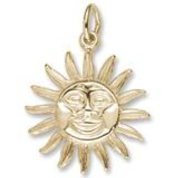 Belize Sun Large Charm in Yellow Gold Plated