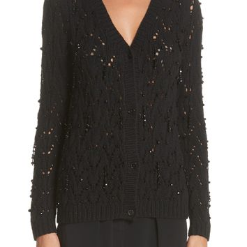 Co Beaded Wool & Cashmere Cardigan | Nordstrom