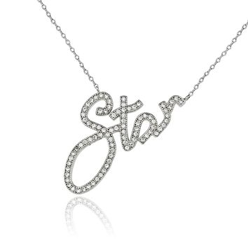 1.9TCW Pave Lab Diamond Star Necklace Pendant