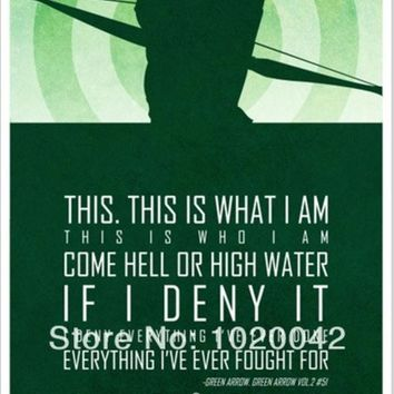 CREYUG3 FC015BT Print Silk Poster SUPER HERO Superman GREEN ARROW Batman Ironman  Art Decor 24x36 in Unframed. = 1946210052