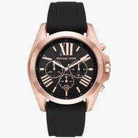 Bradshaw Rose Gold-tone And Silicone Watch | Michael Kors