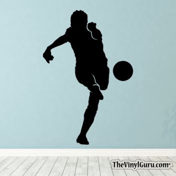 Soccer Wall Decal - Man Futbol Player Sticker #00024