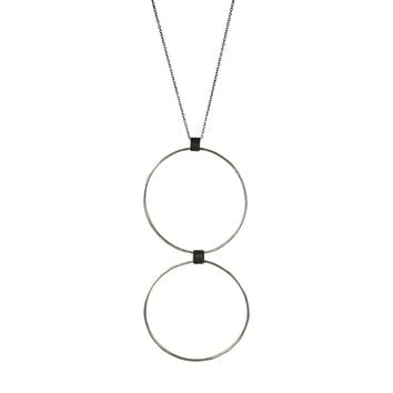 Black Linx Large Double Hoop Necklace