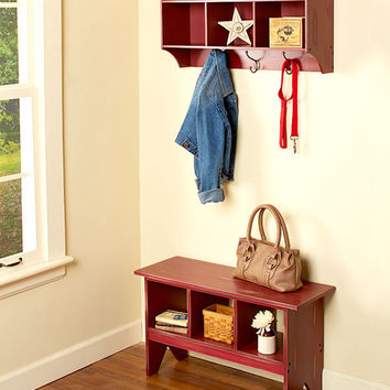 Distressed Entryway Benches or Wall Organizers