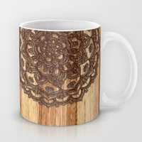 Burnt Wood Chocolate Doodle in warm neutral brown / tan tones Mug by micklyn
