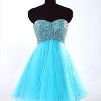 A-line Sweetheart Short Mini Prom Dress/Homecoming Dress/Formal Dress/Party Dress 2013