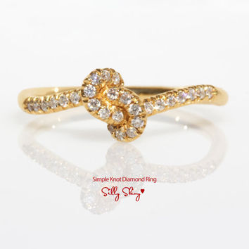 Knot Diamond Ring - The Original 14K Gold