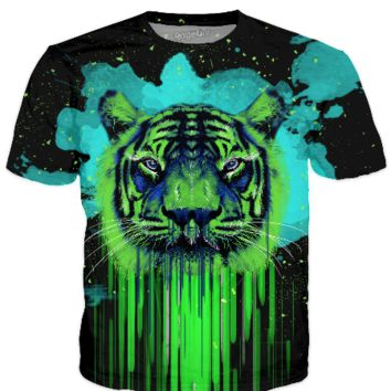 Psychedelic Tiger - T-shirt