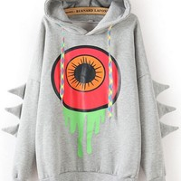 Loose Eye Fleece Hoodie
