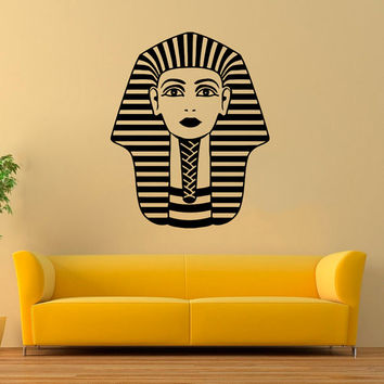 Wall Decals People Travel Countries Tutankhamun Ancient Egypt Pharaoh Egyptian King History Any Room Vinyl Decal Sticker Home Decor ML146