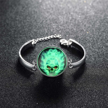 Stylish Gift New Arrival Great Deal Shiny Awesome Hot Sale Accessory Skull Terrible Noctilucent Bracelet [8065787521]