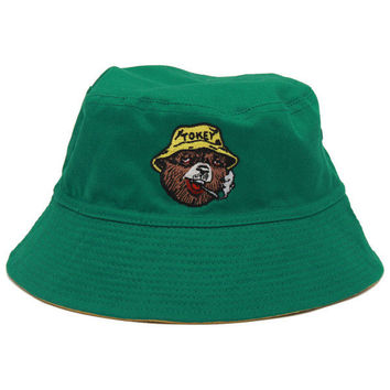 Tokey The Bear Bucket Hat in Green