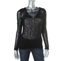 Eileen Fisher Womens Knit V-Neck Pullover Sweater