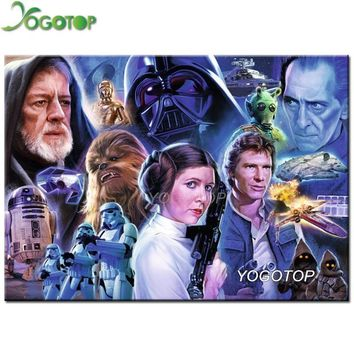 Star Wars Force Episode 1 2 3 4 5 YOGOTOP Diy 5D Diamond Painting Cross Stitch  Full Diamond Mosaic Kits Home Decor Diamond Embroidery CV512 AT_72_6