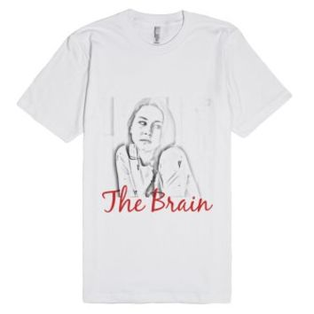 The Brain-Unisex White T-Shirt