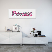 "Princess Wall Canvas 36""x12"" - Shop Jeen - powered by Hingeto"